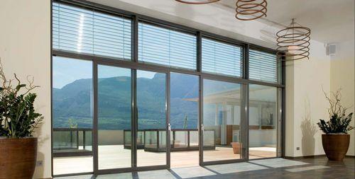Aluminium-PVC sliding patio door - FIN-PROJECT - ArchiExpo