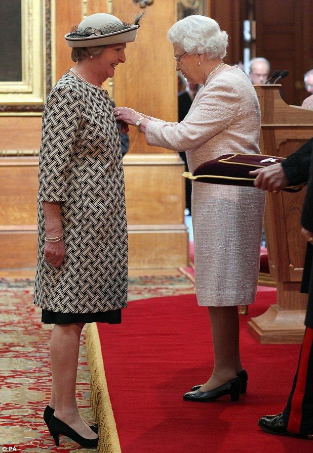 Actress Penelope Keith is made a Dame Commander of the British Empire by Queen Elizabeth II at Windsor Castle