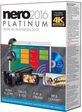 Nero 2016 Platinum 17.0.06100 (MULTI/RUS/ENG) + Content Pack