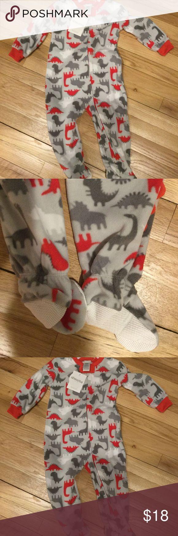 NEW Absorba Zip blanket sleeper footie PJs Fleece Brand new. Grip Feet. Zips up. Fleece- super cozy. Absorba Pajamas