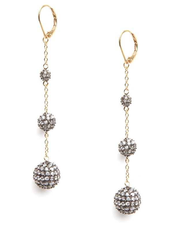 Our Pave Bubble Drops... as seen on both Emmy Rossum and Selena Gomez.