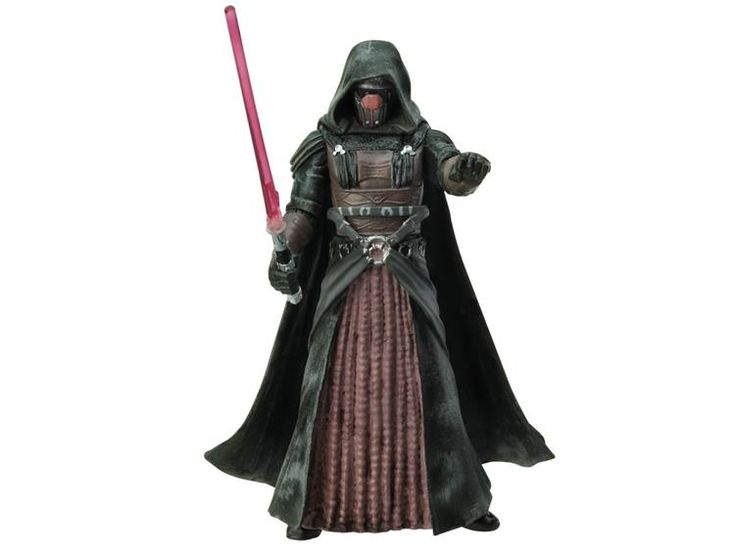 Darth Revan, equipped with a red lightsaber, is a dark masked figure cloaked in an array of pleated robes and cryptic regalia. Description from bigbadtoystore.com. I searched for this on bing.com/images
