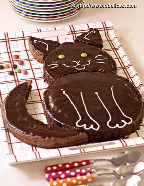Gâteau d'anniversaire chat