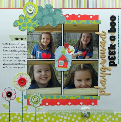Playground Peek-A-Bo0, by Ashley Horton: Scrapbook Layouts, Scrapbooking Ideas, Aimee S Scrapbooking, Washi Tape, Paper Crafts, Craft Ideas, Paper Doll, Scrapbooking Layouts