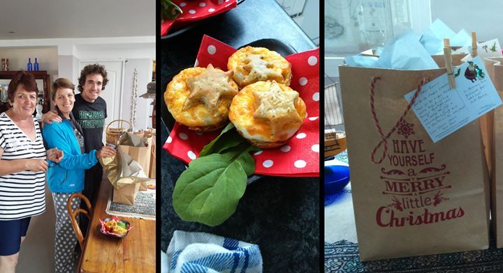 XMAS MORNING YUM - Here is a few snaps of the 'breakfast goodie bags' and we put together for our guests yesterday. We wanted to make sure they had the best possible Christmas with us here on the West Coast!!!  #christmasmorning #christmasfood #breakfast