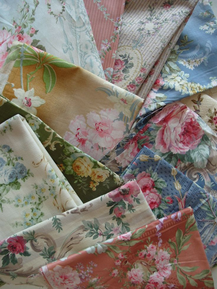 Early 1900's French fabrics                                                                                                                                                                                 More