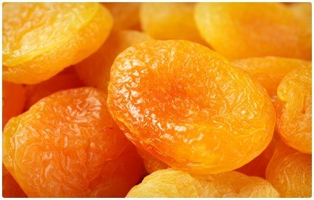 Dried Apricots are an great source of iron and other nutrients. They can be consumed raw, canned, cooked, and dried, but dried apricots provide your body with the most benefits and the largest amount of iron. When apricots are dried, they lose their high water and sugar contents without losing their highly nutritious qualities. They make for an easy snack throughout the day, or chop them up to serve with other fruits or over a salad. Serving Size (1/2 cup), 2 milligrams of iron, 78 calories.