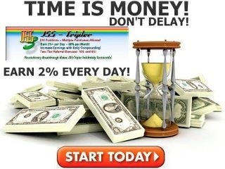 The best way to get fast income and triple your money. The company is fully legal and registered - operates in accordance with United States Patent 6,578,010!