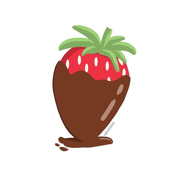 Chocolate Covered Strawberry Vector Art Created On Ipad Pro Using Adobe Draw