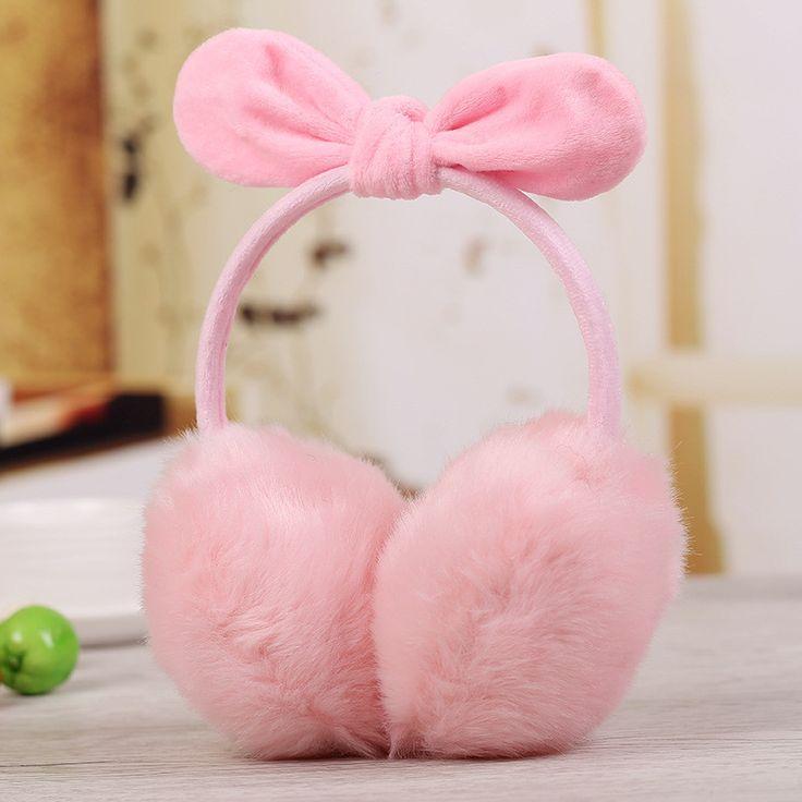 Women Earmuffs Winter Ear Covers Earmuffs Warm Imitation Rabbit Hair Girl's Earflap Ladie's Cute Eartab Plush Ears Muffs P30T