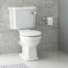 Georgia II II Traditional Close Coupled Toilet & Cistern  - White Seat