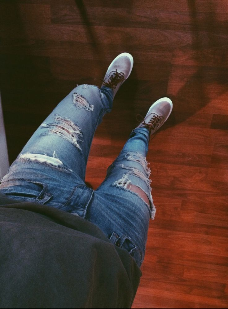 ripped jeans and vans