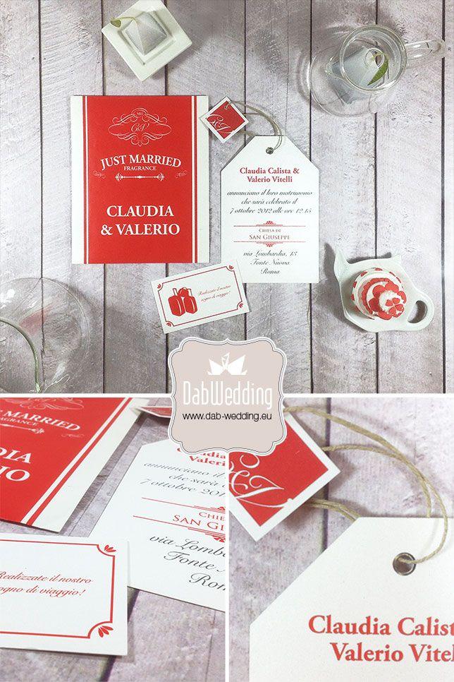 "Partecipazione nozze ""Tea Time"" - www.dab-wedding.eu"