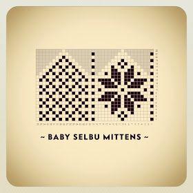 Baby-selbuvotter ♥ Søte og enkle votter, uten tommel! Legg opp 32 masker på pinne 2 / 2,5 mm. Strikk vrangbord (2 rett, 2 vrang) i...