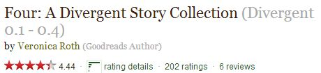 Can I just point out the rating on this book about Four's perspective on Divergent? (via goodreads)