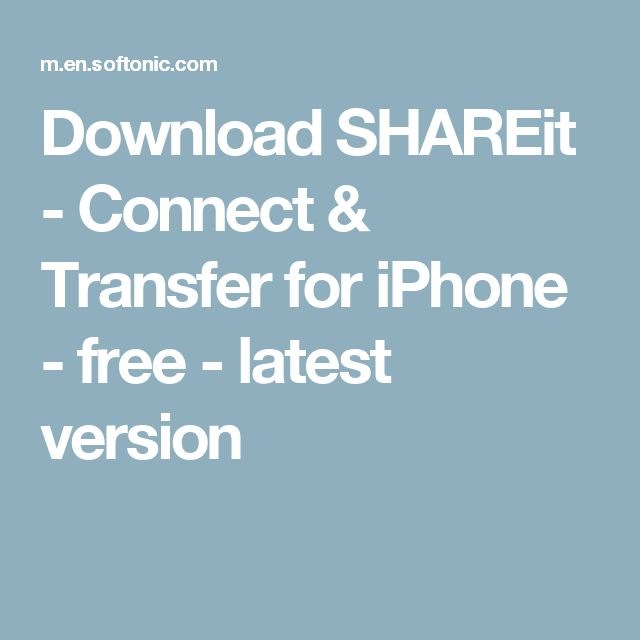 Download SHAREit - Connect & Transfer for iPhone - free - latest version