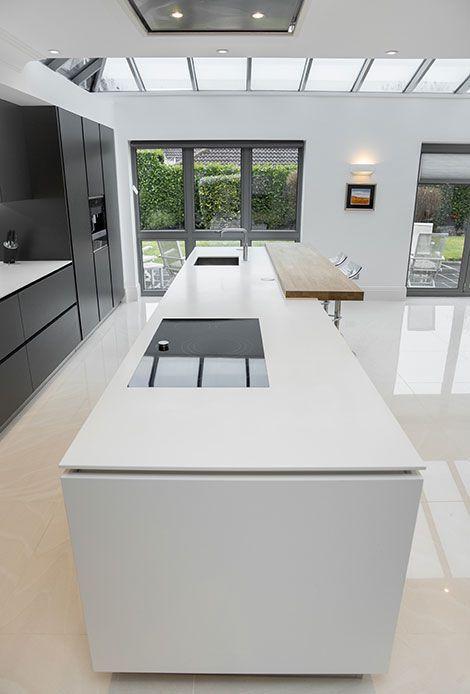 Maria: Wie die Idee, dass die Köche nach außen zum Raum zeigen und die Person, die kocht, sitzen und sprechen kann. – #Kochen #Kochen # …