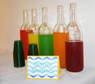 Skittles infused Vodka.  So easy, just put about 50 Skittles in 750ml of vodka for 2 days, strain, and drink. So delicious as shorts or combined with mixers
