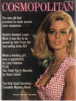 Helen Gurley Brown's first issue of #Cosmo.