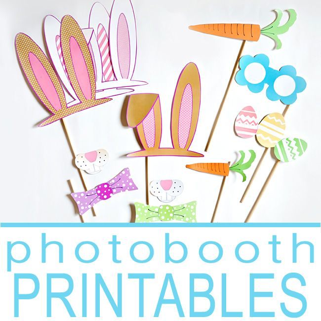 Add some FUN to this year's Easter pictures with these adorable photobooth props!