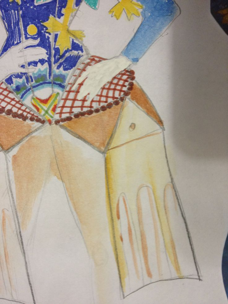 Particolare del costume ispirato a Galla Placidia disegnato da Anna Agati.