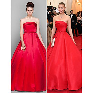 Formal Evening / Prom / Military Ball Dress - Ruby Plus Sizes / Petite Ball Gown Strapless Floor-length Satin – USD $ 69.59