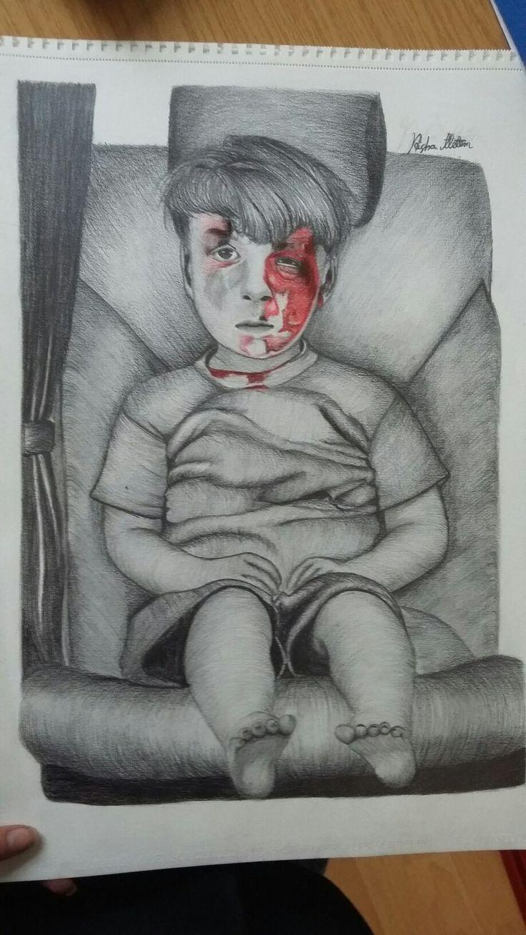 رسمي ل الطفل الشهيد (رحمه الله)