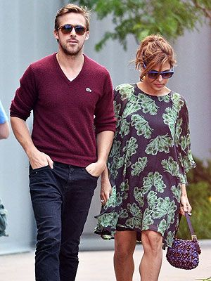 Ryan Gosling and Eva Mendes. She is wearing the Ivana Helsinki Sylvia dress