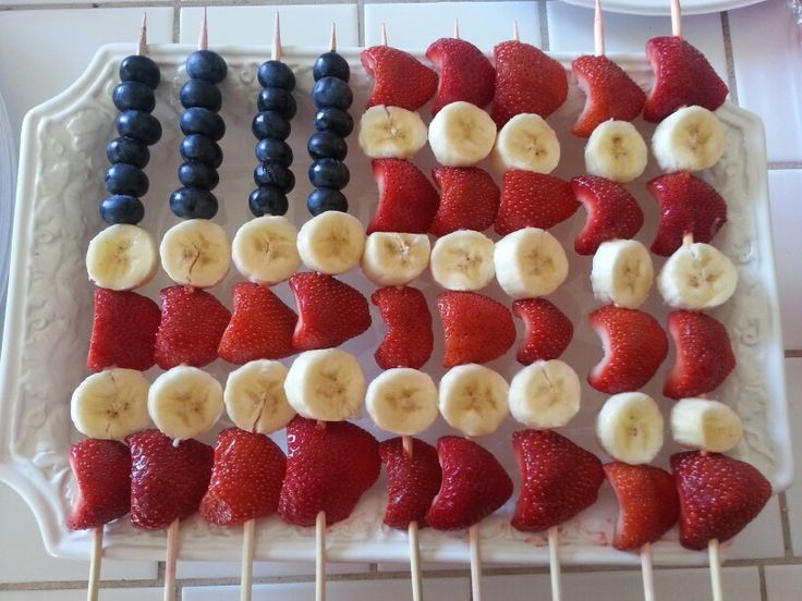 4th of July Fruit Flag! Fun & Delicious.
