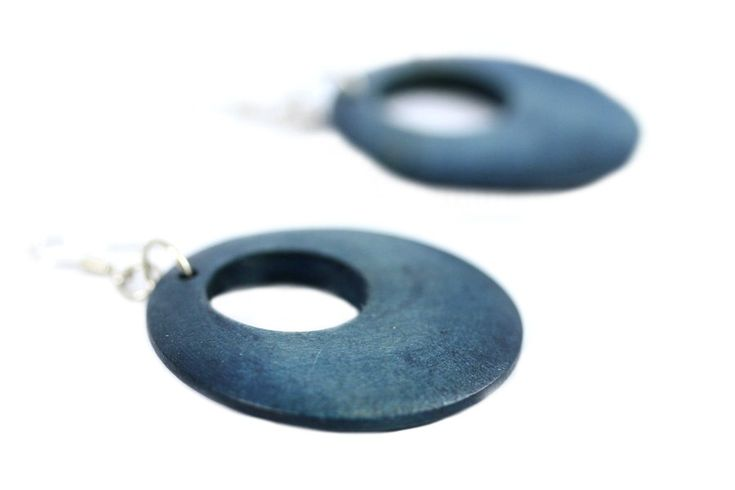 """""""Boucles d'oreilles Koh Phi phi""""-Boucles d'oreilles anneau bois"""