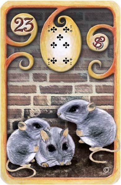 Baralho Cigano – O Rato - Carta 23 - Linha das Águas