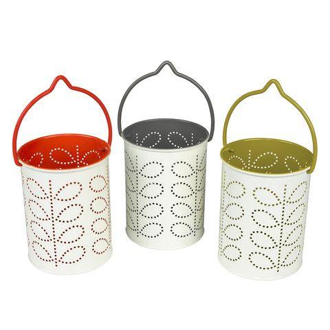 Orla Kiely Garden Lantern - Olive Green - Cadeaux.ie