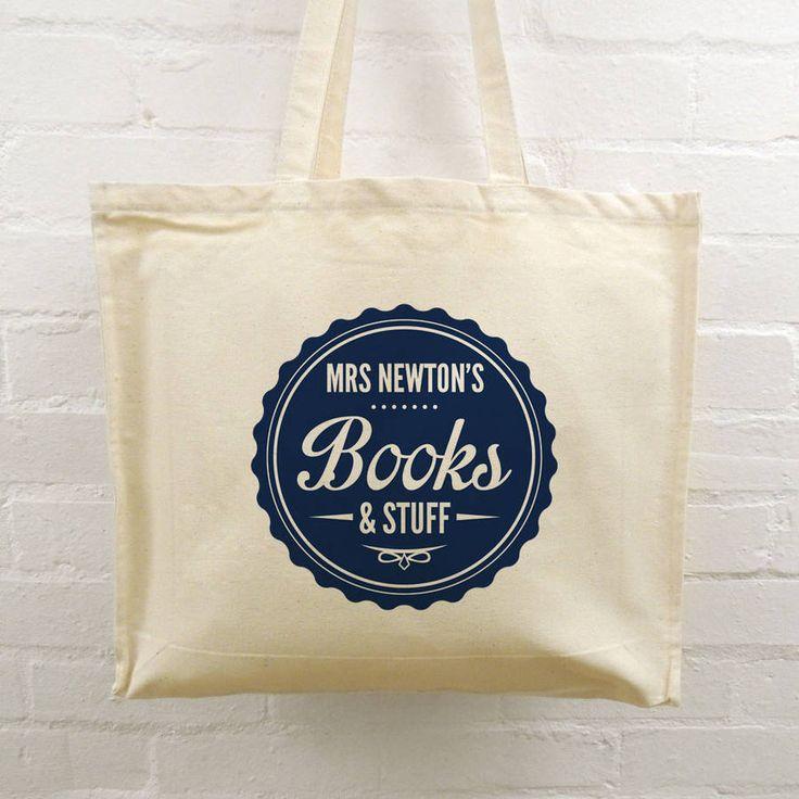 Personalised Teacher Tote Bags