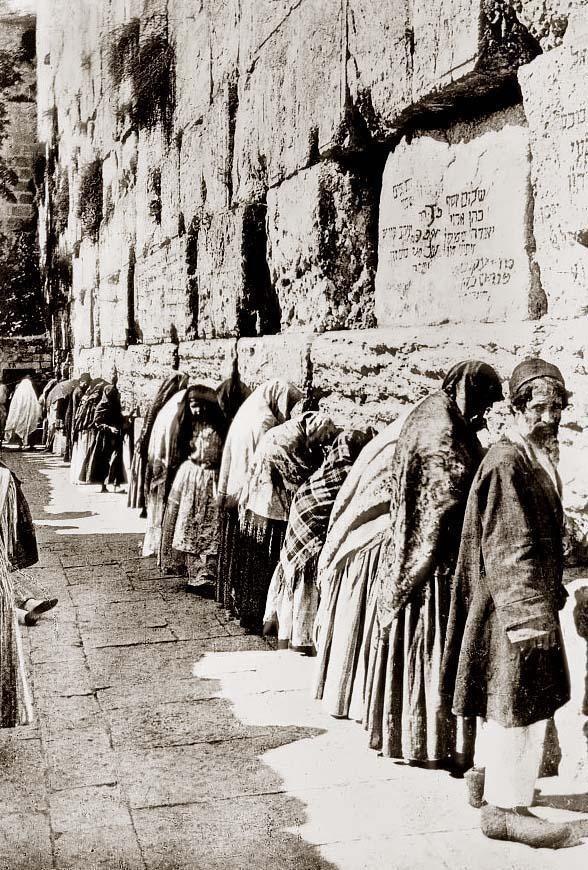 Prayers in Jerusalem.