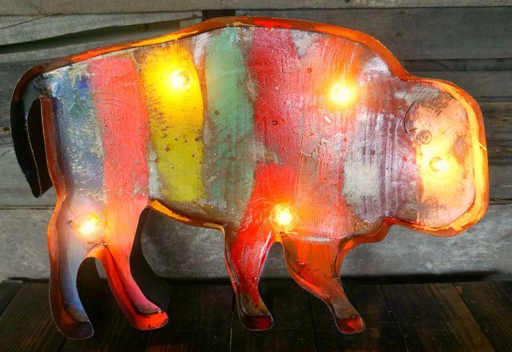 Buffalo Metal Marquee - Sofia's Rustic Furniture