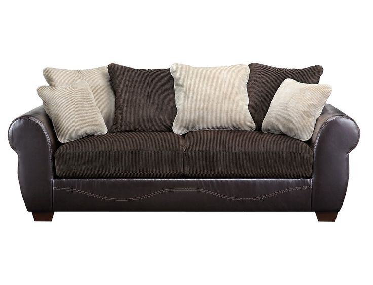 Slumberland Furniture Harrison Collection Chocolate Sofa Attress S