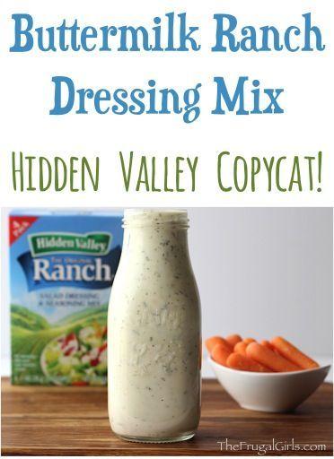 Buttermilk Ranch Dressing Mix Recipe - Hidden Valley ...