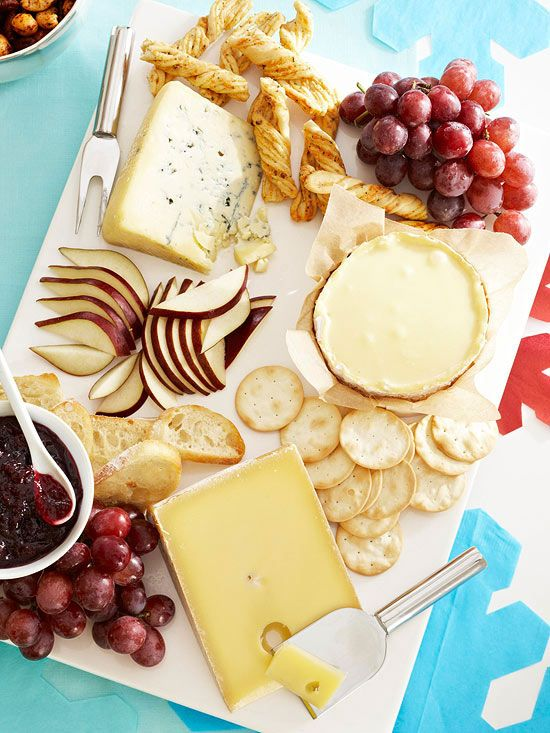 You can assemble a quick and easy cheese tray for your next party. Watch here: http://www.bhg.com/videos/m/65797661/how-to-assemble-a-cheese-tray.htm?socsrc=bhgpin081414assembleacheesetray