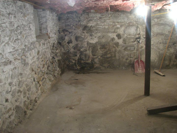 Stone basement walls needs to be parged when i get my for Basement concrete cleaner