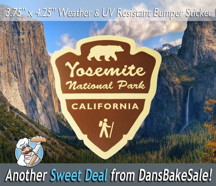 National park service bumper sticker decal 4 x 5 shtickers pinterest park service