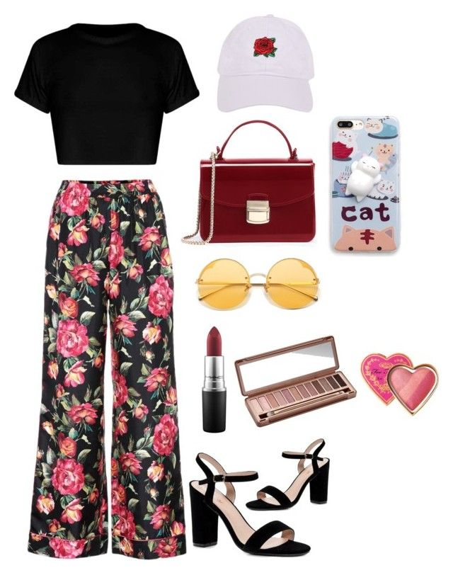 """Random"" by fhk21 on Polyvore featuring Dolce&Gabbana, Boohoo, WithChic, Armitage Avenue, MAC Cosmetics, Urban Decay and Too Faced Cosmetics"