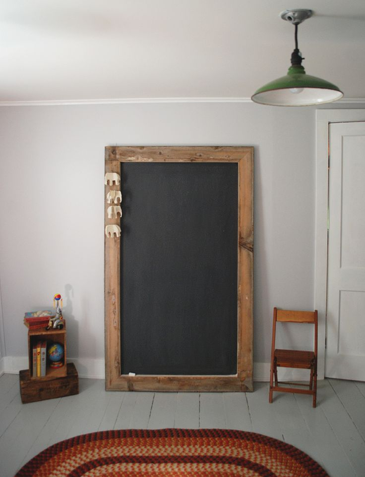 If we end up doing a chalkboard calendar this might be a good cheap option  DIY Giant Chalkboard | The Merrythought