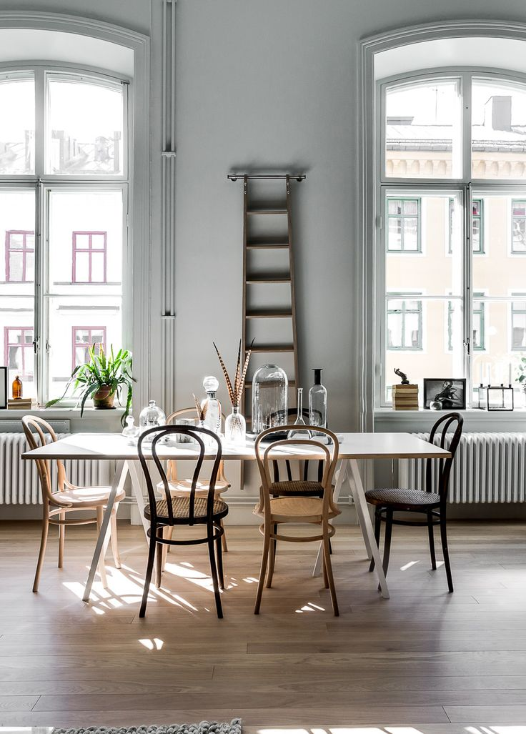 Home / Table / Chaise / Dîner / White / Inspiration / Parquet / Bois / Décoration