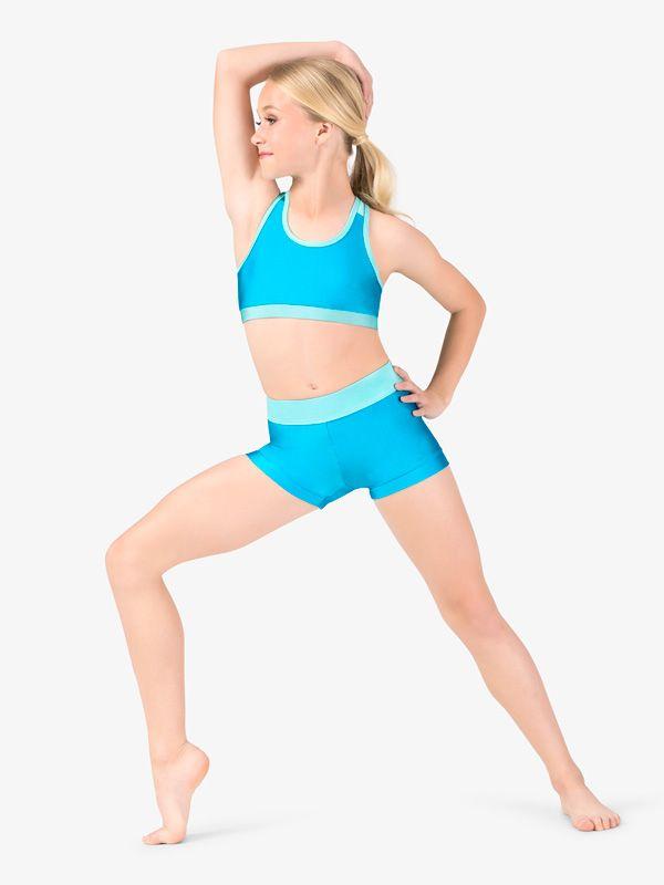 Kids Girls Dance Outfit Gym Ballet Stretchy Tanks Top Leggings Sports Dancewear