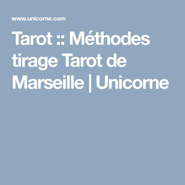 Tarot :: Méthodes tirage Tarot de Marseille | Unicorne