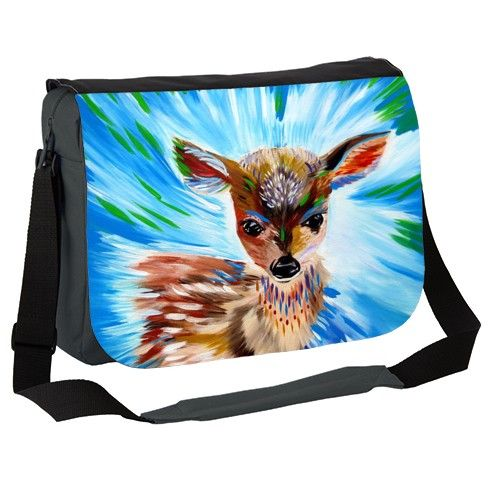 Spirit Animal Fawn Messenger Bag by cathy-jacobs at zippi.co.uk