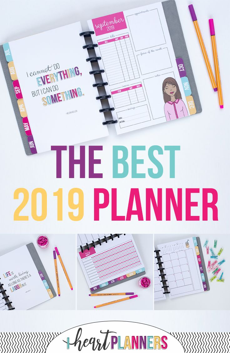 Daily planner weekly planner monthly planner this custom planner is everything you need to stay organized planner plannergirl discbound