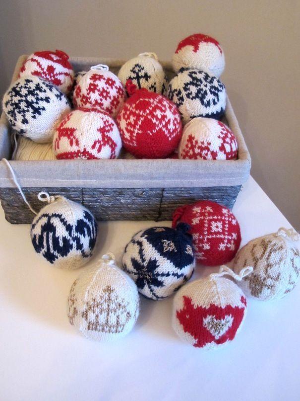 Милые идеи для новогодних украшений: 28 вариантов использования пряжи - Ярмарка Мастеров - ручная работа, handmade