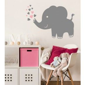 Perfect Elefant farbig als Wandtattoo