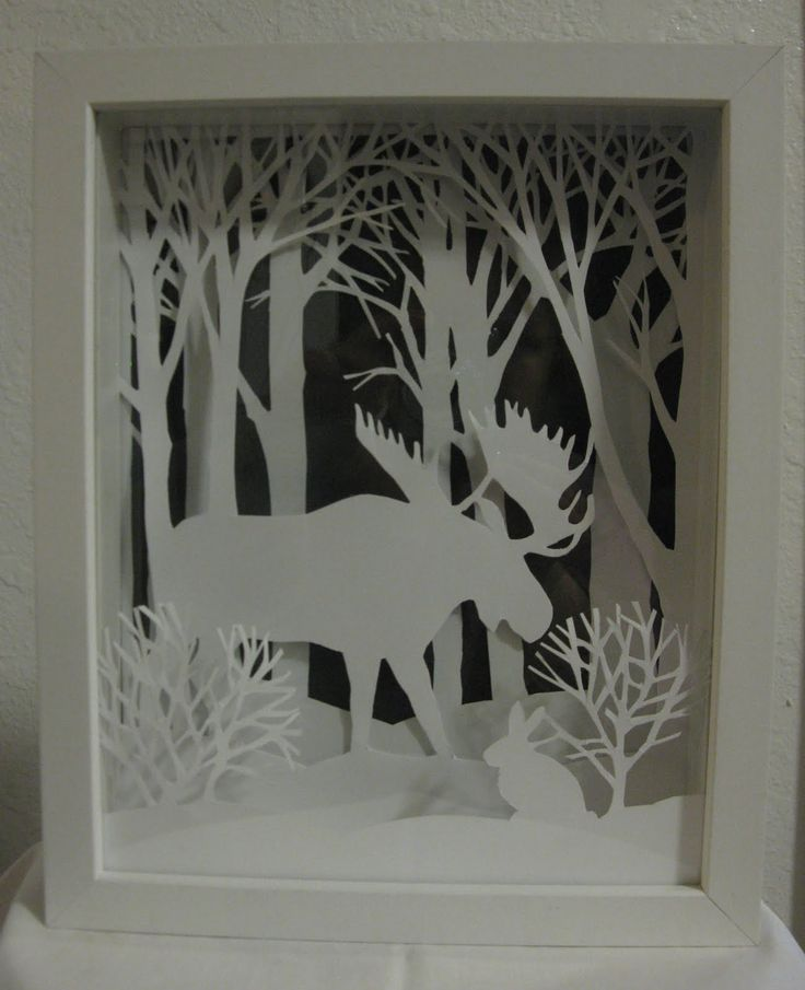 layered conventional paper art